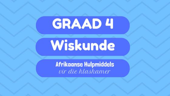 Wiskunde hulpmiddels in Afrikaans vir graad 4