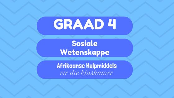 Sosiale Wetenskappe SW Hulpmiddels vir die klaskamer in Afrikaans